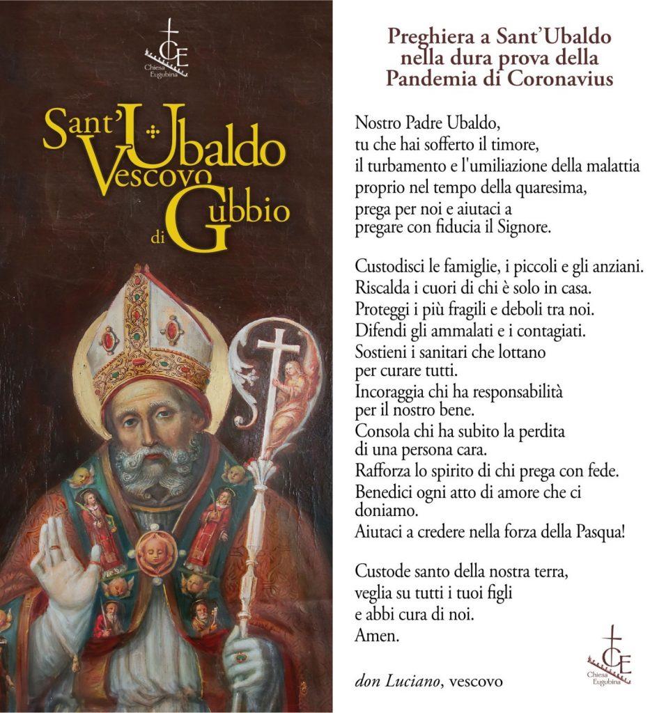 Coronavirus, la Preghiera a Sant'Ubaldo