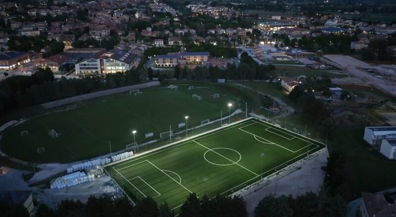 "L'impianto sportivo ""Beniamino Ubaldi"" a Gubbio"