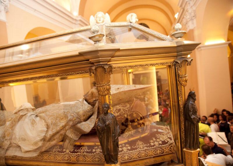 L'urna che custodisce la reliquia del patrono sant'Ubaldo